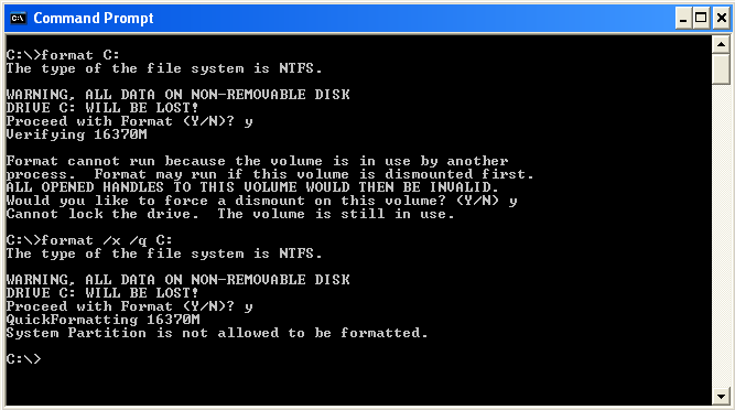how to reformat system drive